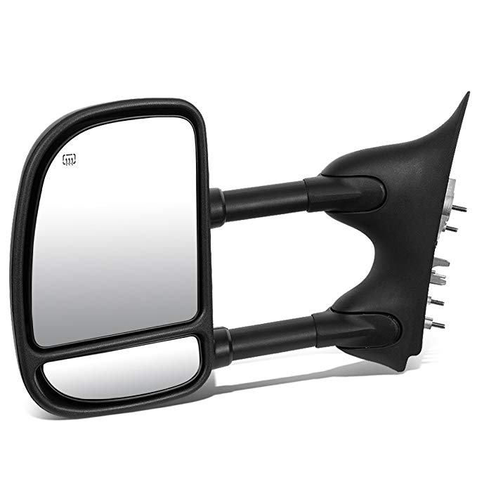 DNA Motoring TWM-004-T111-BK-L Powered Towing Mirror+Heat Left/ドライバー [For 99-07 Ford Super Duty] (海外取寄せ品)[汎用品]