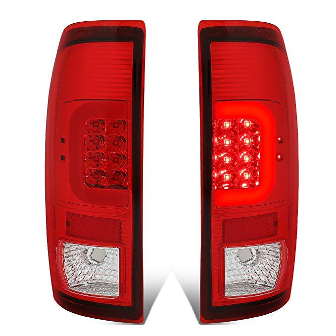 DNA Motoring TL-F25008-LED-RD3D-RD-G2 ペア クローム ハウジング レッド レンズ レッド 3D LED Tail ライト [For 08-16 Ford F250-F550] (海外取寄せ品)[汎用品]
