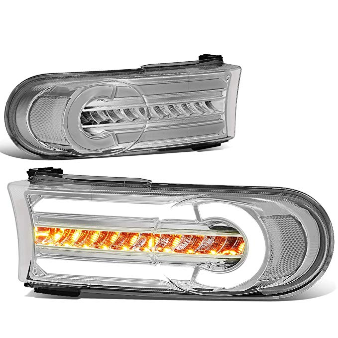 DNA MOTORING BL-LB-FJC07-CH-CL1 LED DRL+Sequential Chasing Turn Signal フロント Bumper Light Corner ランプ (海外取寄せ品)[汎用品]