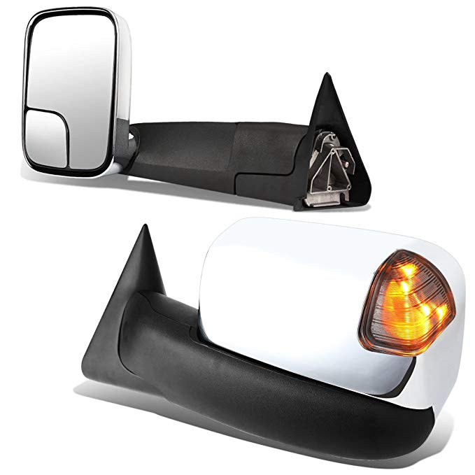 DNA MOTORING TWM-023-T999-CH-SM ペア of Towing Mirrors, ドライバー and Passenger Sides (海外取寄せ品)[汎用品]