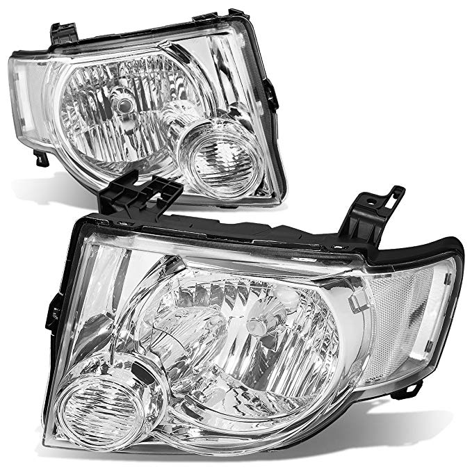 DNA MOTORING HL-OH-FESC08-CH-CL1 Headlight Assembly (Driver & Passenger Side) (海外取寄せ品)[汎用品]
