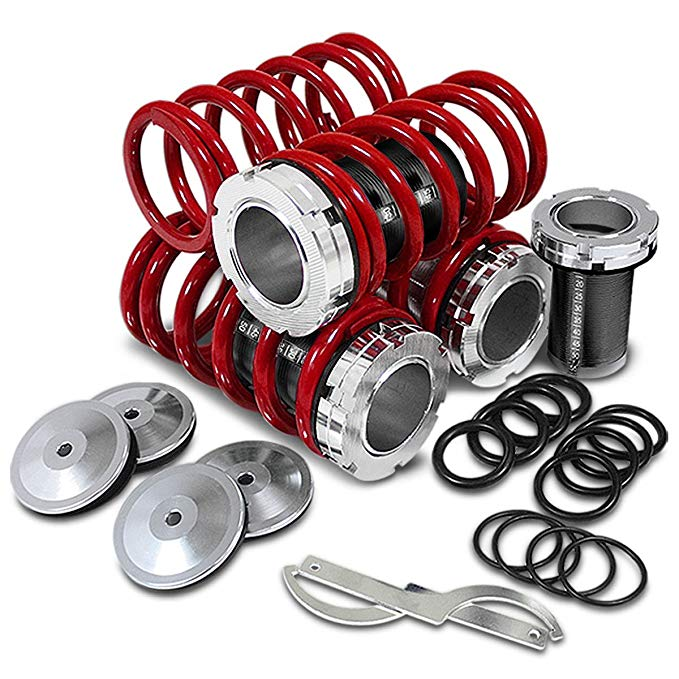 MOTORING Maxima] 95-99 (海外取寄せ品)[汎用品] Coilover スリーブ [for キット COIL-NM95-S-RD-BK COILNM95SRDBK Nissan スーパーセール全商品ポイント10倍:DNA