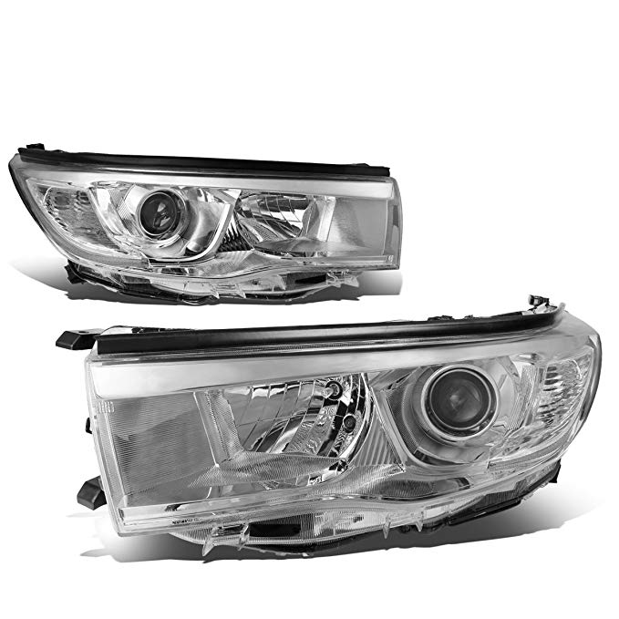 DNA Motoring クローム clear HL-OH-THI14-CH-CL1 Projector Headlight Assembly (Driver & Passenger Side) (海外取寄せ品)[汎用品]
