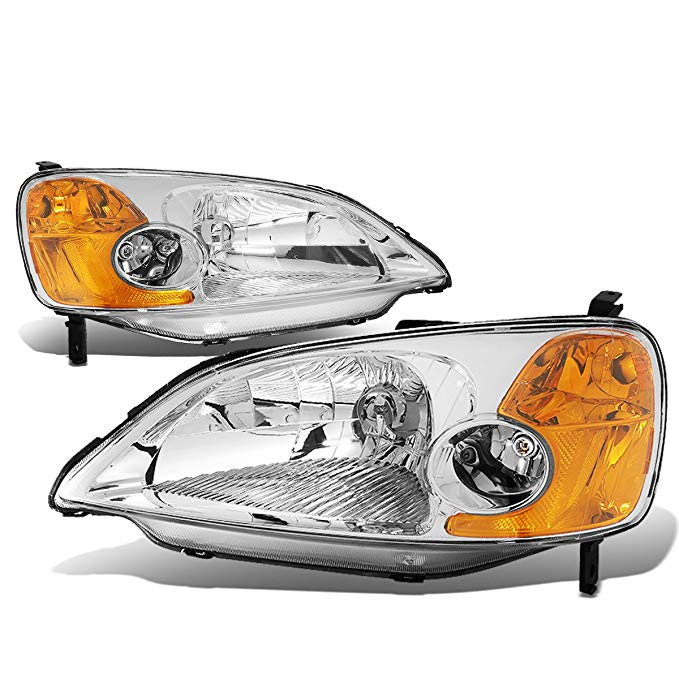 DNA Motoring HL-OH-HC01-CH-AM Headlight Assembly, ドライバー and Passenger Side (海外取寄せ品)[汎用品]