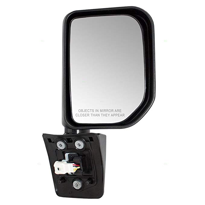 Side View Mirror Power Smooth Black Passenger RH for 08-12 Honda Accord Coupe
