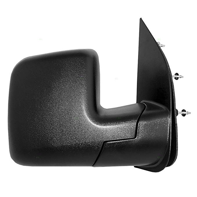 Black Manual Side View Mirror Right Hand RH Passenger For 02-06 Nissan Altima