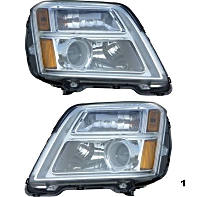 Aftermarket フィット 10-13 GMC Terrain (excludes 13 Terrain Denali) Left & Right Headlamp Assys -ペア (海外取寄せ品)[汎用品]