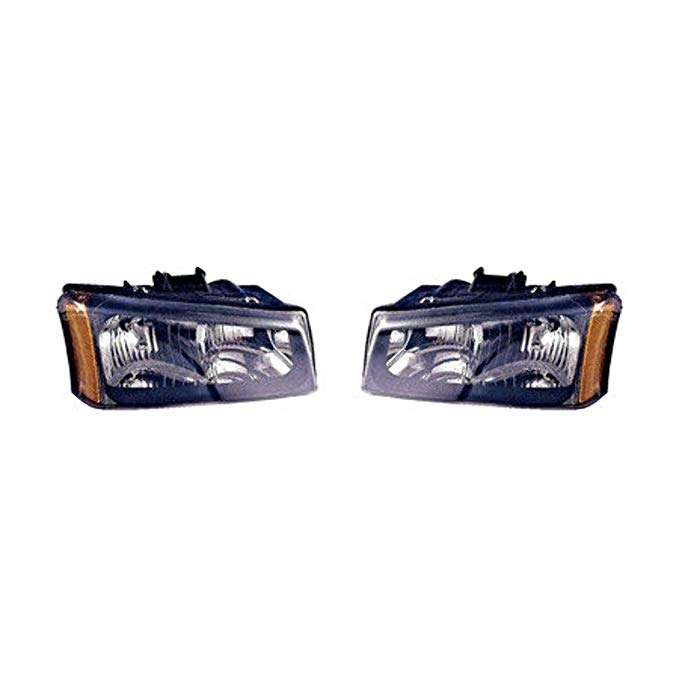 Aftermarket フィット 03-04 Chevy Silverado L&R Headlamps & Avalanche L&R assys w/o Lower Cladding (海外取寄せ品)[汎用品]