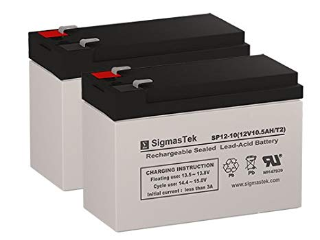 GT GT-300 リプレイスメント Batteries - 2X 12 Volt 10AH Scooter Batteries by SigmasTek (海外取寄せ品)[汎用品]