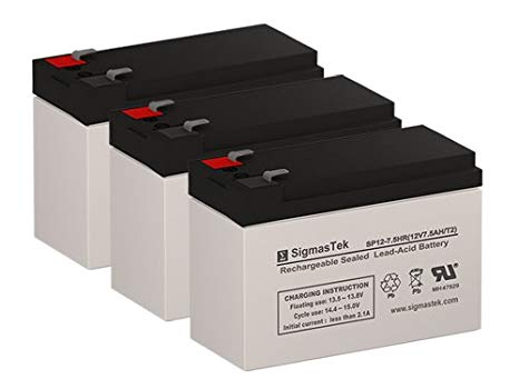 Alpha Technologies 1250RM UPS リプレイスメント Batteries - セット of 3 (海外取寄せ品)[汎用品]