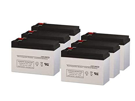 PowerWare PW9125-2500 UPS リプレイスメント Batteries - セット of 6 (海外取寄せ品)[汎用品]