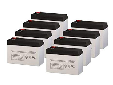 Alpha Technologies 700RM UPS リプレイスメント Batteries - セット of 8 (海外取寄せ品)[汎用品]