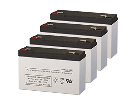 Para Systems Minuteman A1250 UPS リプレイスメント Batteries - セット of 4 (海外取寄せ品)[汎用品]