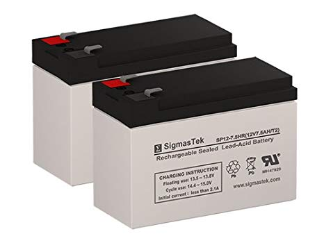 Mongoose Micro-3 12 Volt 7.5 AmpH リプレイスメント Scooter Batteries - セット of 2 (海外取寄せ品)[汎用品]