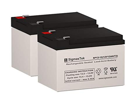 Ezip Scooter eZip 750 12 Volt 12 AmpH リプレイスメント Scooter Batteries - セット of 2 (海外取寄せ品)[汎用品]