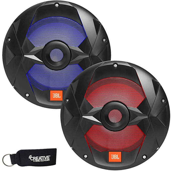 JBL MS10LB - Two OEM リプレイスメント マリーン 10 インチ ブラック Subwoofers with RGB LEDs - 4-Ohm (海外取寄せ品)[汎用品]