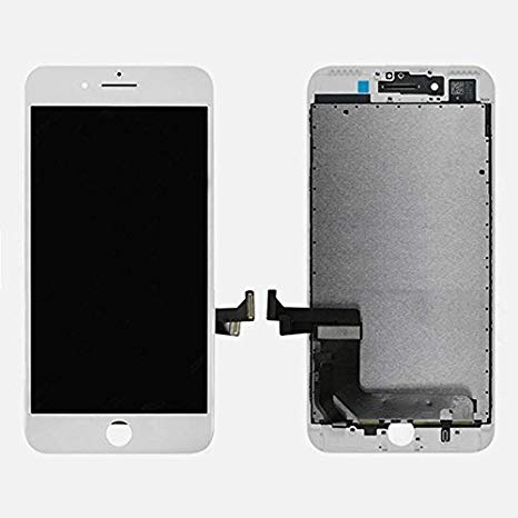 ePartSolution_ LCD ディスプレイ タッチ スクリーン Digitizer Assembly for iPhone 8 Plus リプレイスメント Part (White) (海外取寄せ品)[汎用品]