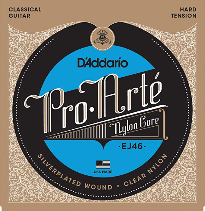 D'Addario EJ46x5 (5 sets) Classical Guitar Strings, プロ-Arte, シルバー/Clear/Hard. (海外取寄せ品)