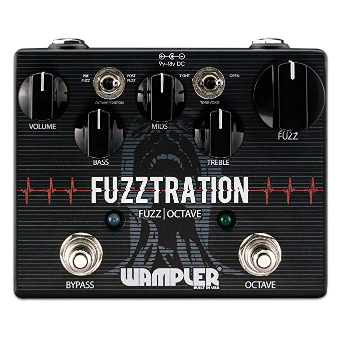 Wampler Fuzztration Fuzz & Octave Guitar Effects Pedal (海外取寄せ品)