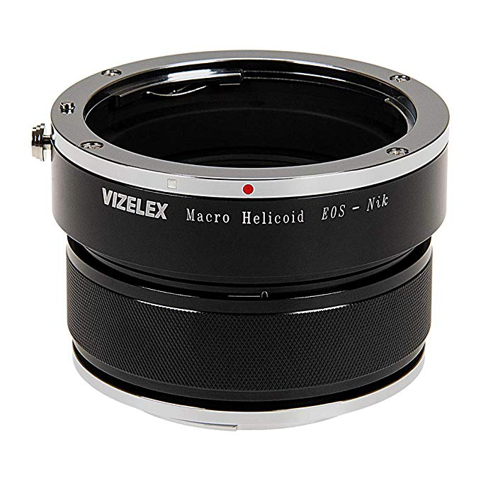 Vizelex Variable Magnification Helicoil Adapter Compatible with キャノン Canon EOS レンズ to Nikon F-Mount Body (海外取寄せ品)