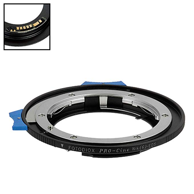 Fotodiox プロ レンズ Mount Adapter Compatible with Nikon Nikkor F Mount G-Type D/SLR レンズ to キャノン Canon EOS (EF/EF-S) Mount DSLR Camera Body - with アパーチャー Control ダイヤル and Gen10 フォーカス Confirmation チップ (海外取寄せ品)
