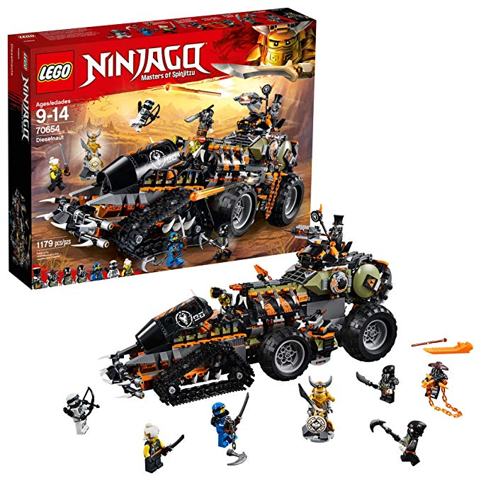 レゴ ニンジャゴー Lego Ninjago Masters of Spinjitzu: Dieselnaut 70654 Ninja Warrior Toy and プレイセット, ファン Building キット with Brick バトル Tank Vehicle (1179 Piece) (海外取寄せ品)