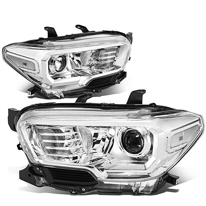 DNA Motoring クローム clear HL-OH-TTAM16-CH-CL1 ペア フロント Bumper Driving Projector Headlight リプレイスメント (海外取寄せ品)[汎用品]