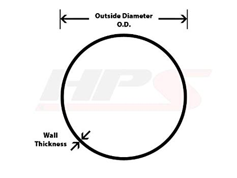 HPS AT60-175-CLR-2 6061 T6 Aluminum Elbow Pipe Tubing 60 Degree Bend 0.065 Wall Thickness 16 Gauge 2 Center Line Radius 1.75 OD