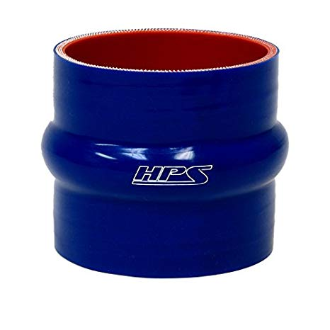 HPS HTSHC-450-L4-ブルー シリコン ハイ テンプレチャー 4-ply Reinforced Straight Hump Coupler Hose, 35 PSI Maximum Pressure, 4