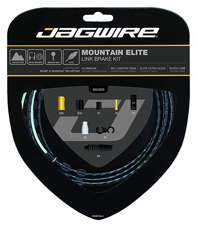 Jagwire Mountain エリート リンク Brake ケーブル キット with Ultra-Slick Uncoated ケーブル, ブラック (海外取寄せ品)