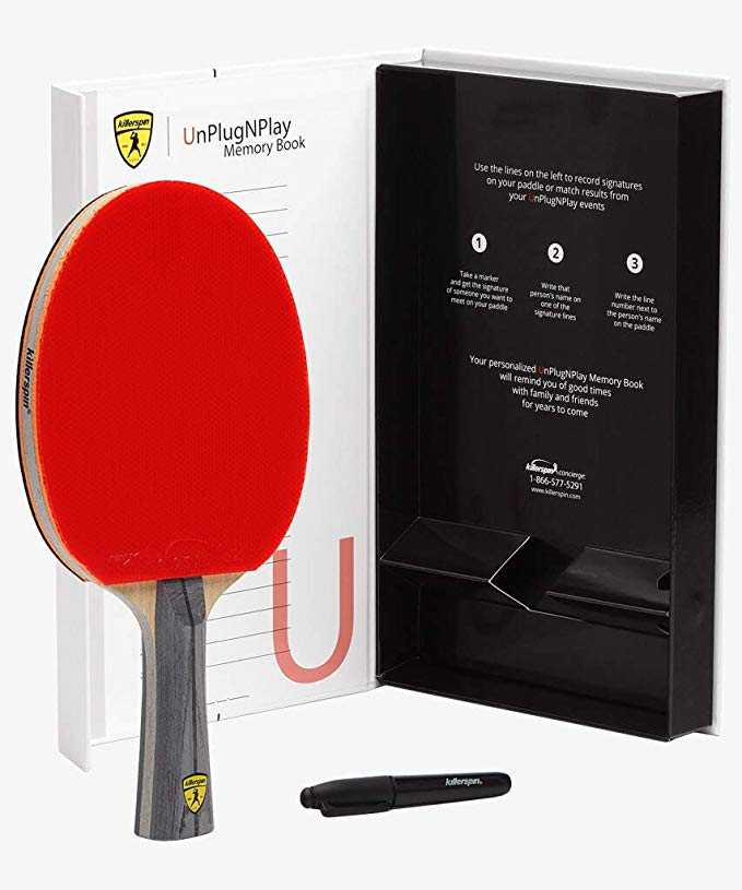 Killerspin ジェット 600 テーブル テニス Paddle, ピング ping Pong Paddle for Intermediate or Advanced Players, テーブル テニス Racket with ウッド Blade, Nitrx ラバー Grips ピング ping Pong Balls, メモリ memory ボックス for ストレージ ? レ・ (海外取寄せ品)