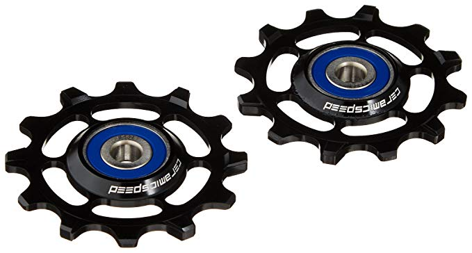 CeramicSpeed One by 11 XX1/X01 Alloy Pulley Wheels, ブラック (海外取寄せ品)