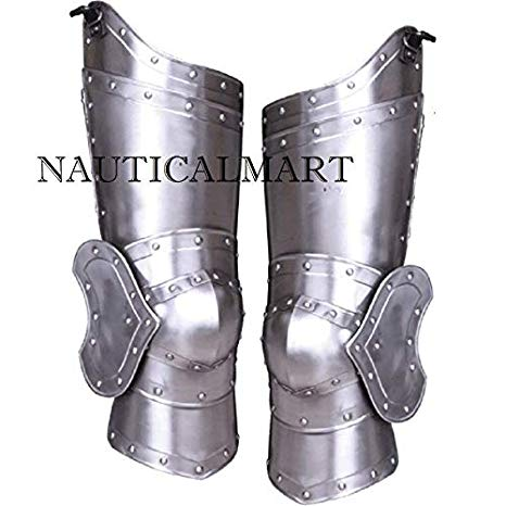 NauticalMart Medieval Knight スチール レッグ Guard ハロウィン コスチューム (海外取寄せ品)