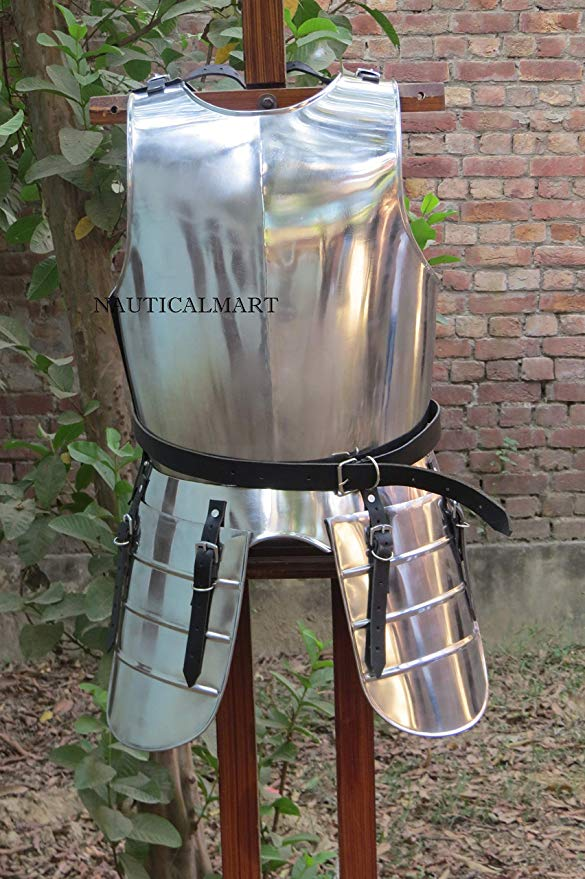 Medieval LARP ファンタジー コスチューム スチール Armour Breastplate with Tasset ハロウィン コスチューム (海外取寄せ品)