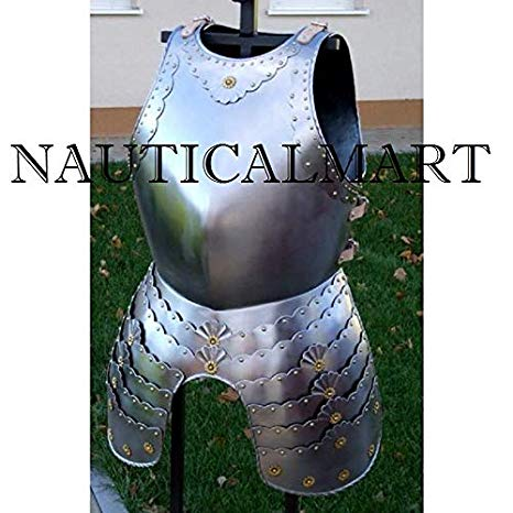 Medieval LARP ファンタジー コスチューム スチール Armour Cuirass Breastplate with Tassets (海外取寄せ品)
