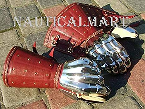 NauticalMart Medieval Gauntlet Armour ペア of SCA Historical for コンバット (海外取寄せ品)
