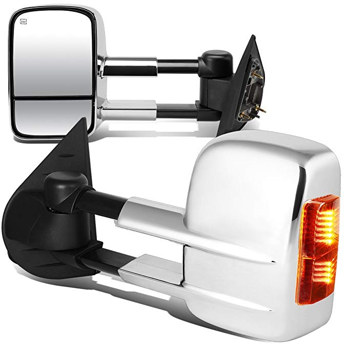 DNA Motoring TWM-003-T999-CH-AM ペア of Towing Side Mirrors, ドライバー and Passenger Sides (海外取寄せ品)[汎用品]