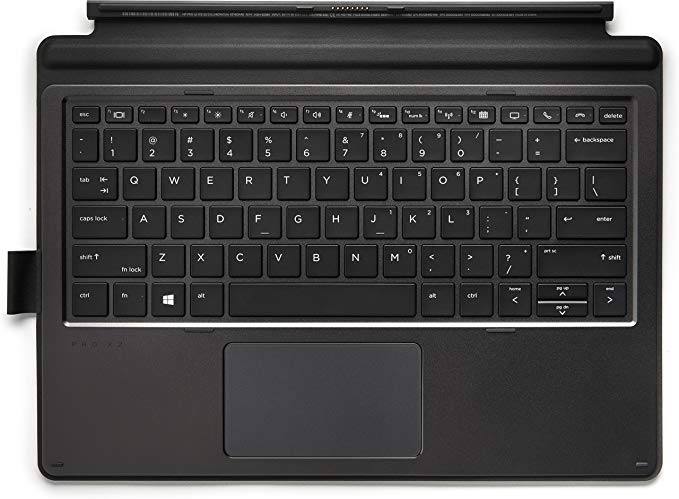 HP 1FV38AA Collaboration - Keyboard - with Touchpad - Backlit - Dock - US - ブラック - for プロ X2 612 G2 (海外取寄せ品)