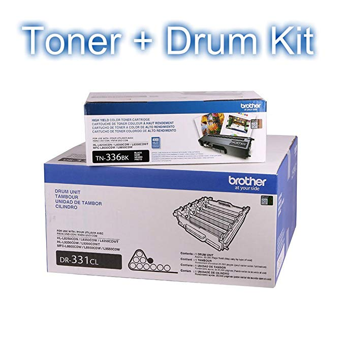 Brother TN336BK (TN-336BK) ハイ Yield ブラック Toner Cartridge and DR331CL (DR-331CL) リプレイスメント Drum Unit (海外取寄せ品)