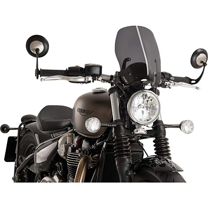 Puig Windshield Naked New Generation ツーリング 9437F for Triumph Bobber 17', Triumpg Bonneville Speedmaster 18'-19' (海外取寄せ品)