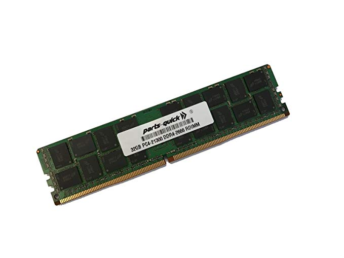 32GB メモリ memory for Supermicro SuperServer 1029TP-DC1R (Super X11DPT-PS) DDR4 2666 MHz 1.2V ECC RDIMM (PARTS-クイック Brand) (海外取寄せ品)