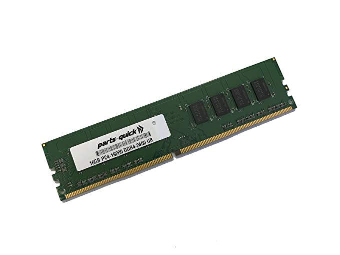 16GB メモリ memory for QNAP TS-977XU NAS Server DDR4 UDIMM 2400 MHz 288-ピン RAM (PARTS-クイック Brand) (海外取寄せ品)