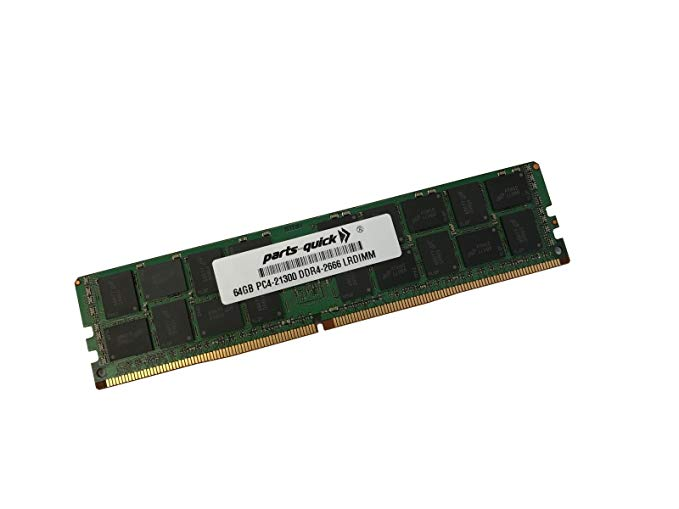 64GB メモリ memory for Supermicro SuperServer 2028BT-HTR+ (Super X10DRT-B+) DDR4 LRDIMM 2666MHz LV RAM (PARTS-クイック Brand) (海外取寄せ品)