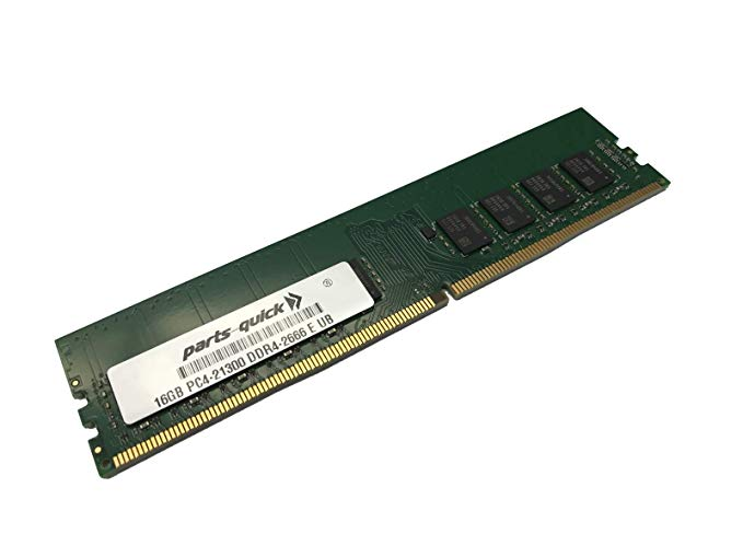 16GB Compatible メモリ memory for デル PowerEdge R240 Rack Server 2Rx8 DDR4 2666MHz ECC UDIMM (XEON) (PARTS-クイック Brand) (海外取寄せ品)