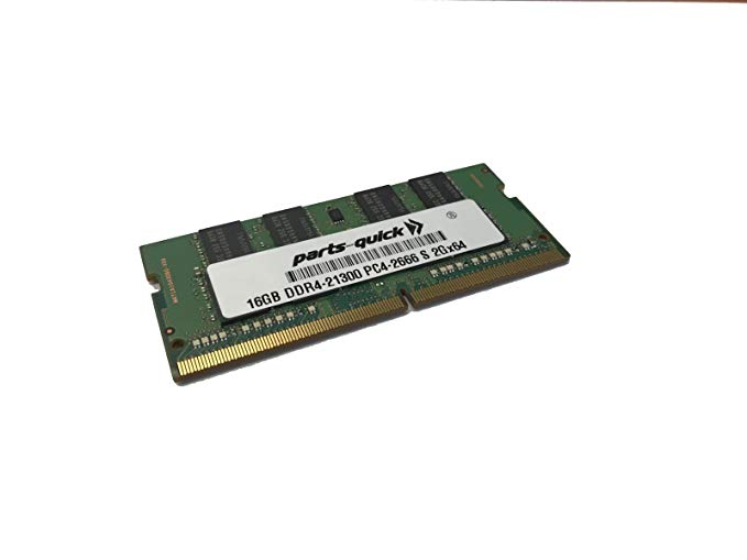 16GB メモリ memory Upgrade for デル Inspiron 15 5000 Series (5582) 2Rx8 Compatible RAM DDR4 2666MHz SODIMM (PARTS-クイック Brand) (海外取寄せ品)