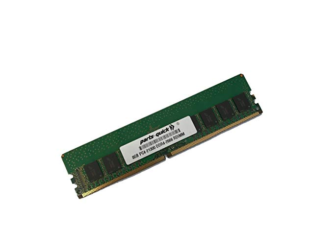 8GB メモリ memory for エイスース ASUS RS720-E9-RS8-G Server DDR4 2666 MHz 1.2V ECC RDIMM (PARTS-クイック Brand) (海外取寄せ品)
