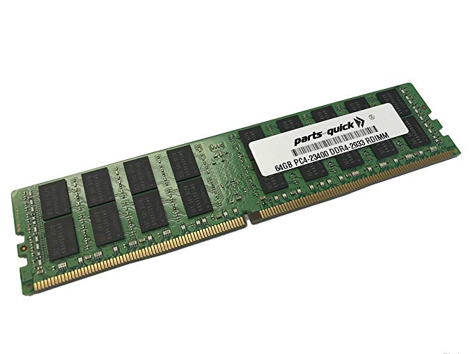 64GB Compatible メモリ memory for レノボ ThinkSystem SN550 (Xeon SP ジェン 2) 2933 MHz 2RX4 1.2V RDIMM (PARTS-クイック Brand) (海外取寄せ品)