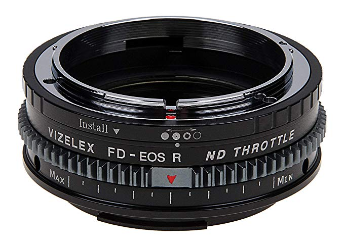 Vizelex Cine ND スロットル レンズ Mount Adapter - Compatible with キャノン Canon FD & FL 35mm SLR Lenses to キャノン Canon RF Mount Mirrorless Cameras with ビルトイン Variable ND フィルタ (1 to 8 Stops) from Fotodiox プロ (海外取寄せ品)