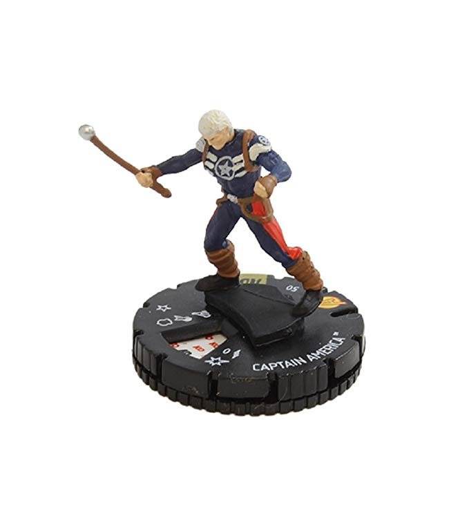 WizKids マーベル HeroClix アベンジャー Defenders ウォー #054 キャプテン アメリカ Captain America Complete with Card (海外取寄せ品)