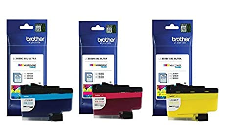 Brother Genuine LC3039C, LC3039M, LC3039Y Ultra ハイ-Yield シアン/Magenta/イエロー INKvestment Tank Ink Cartridge カラー セット, LC3039 (海外取寄せ品)